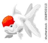 goldfish on a white background | Shutterstock .eps vector #1068933113