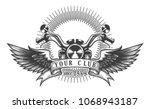vintage motorcycle club emblem. ...   Shutterstock .eps vector #1068943187