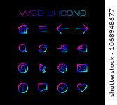 web application ui icons set...