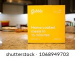Small photo of Phoenix, Arizona - April 12, 2018: Gobble Home Delivery Meal Kit on Table