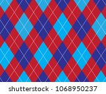 red white and blue argyle... | Shutterstock .eps vector #1068950237