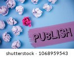 word writing text publish.... | Shutterstock . vector #1068959543