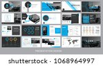 presentation template for...   Shutterstock .eps vector #1068964997