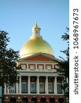 the gold dome of the capitol... | Shutterstock . vector #1068967673
