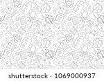 vector profession pattern....   Shutterstock .eps vector #1069000937