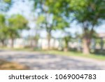 blur of city park bokeh... | Shutterstock . vector #1069004783