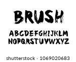 brush typography design vector | Shutterstock .eps vector #1069020683