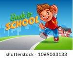 little student illustration  | Shutterstock .eps vector #1069033133