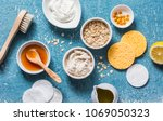 homemade beauty products...   Shutterstock . vector #1069050323