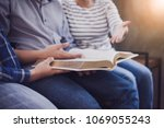 close up of christian group are ... | Shutterstock . vector #1069055243