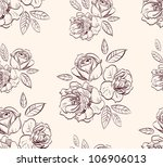 vintage floral rose  background - stock vector