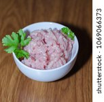 Small photo of Chicken mince, fresh mince, mince in the bowl