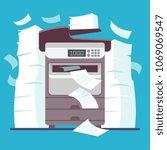 multifunction office printer ... | Shutterstock .eps vector #1069069547