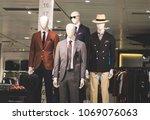 business class mens outfit... | Shutterstock . vector #1069076063
