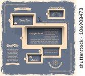 web design template in retro...   Shutterstock .eps vector #106908473