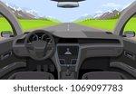vehicle salon  inside car... | Shutterstock .eps vector #1069097783
