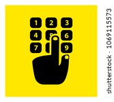 dialing a number phone icon...   Shutterstock .eps vector #1069115573