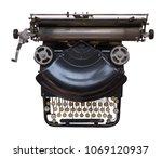 isolated vintage black... | Shutterstock . vector #1069120937