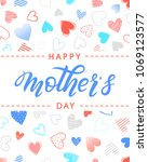 happy mothers day typography... | Shutterstock .eps vector #1069123577