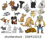 a wide variety of dogs on a... | Shutterstock .eps vector #106913213