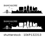 bangalore skyline   india  ... | Shutterstock .eps vector #1069132313
