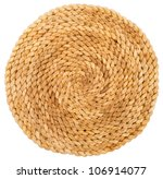 Wicker Placemat Isolated On...