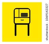 cupboard icon vector | Shutterstock .eps vector #1069142327