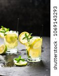 lemon fruit lime slices... | Shutterstock . vector #1069143293