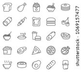 thin line icon set   sausage... | Shutterstock .eps vector #1069157477