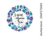 i need vitamin sea phrase for... | Shutterstock .eps vector #1069172603