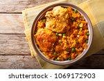 brazilian food  chicken and... | Shutterstock . vector #1069172903