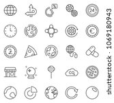 thin line icon set   circle... | Shutterstock .eps vector #1069180943