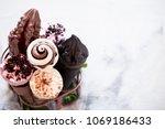 miscellaneous ice cream cone in ... | Shutterstock . vector #1069186433