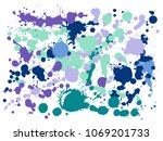 ink stains grunge background... | Shutterstock .eps vector #1069201733