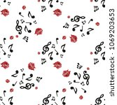 romantic seamless pattern with... | Shutterstock .eps vector #1069203653