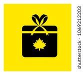 present. gift box icon vector | Shutterstock .eps vector #1069212203