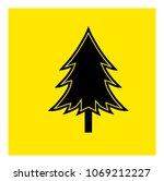 fir tree icon vector | Shutterstock .eps vector #1069212227