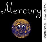 anthropomorphic planet mercury... | Shutterstock .eps vector #1069229597
