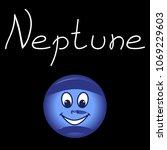 anthropomorphic planet neptune... | Shutterstock .eps vector #1069229603