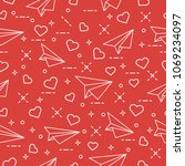 cute seamless pattern with...   Shutterstock .eps vector #1069234097