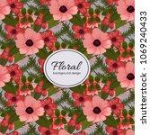 beautiful floral design. vector ... | Shutterstock .eps vector #1069240433