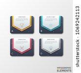 four separate black rectangles...   Shutterstock .eps vector #1069242113