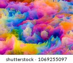3d illustration of colorful... | Shutterstock . vector #1069255097