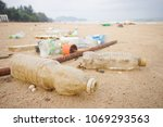 garbage in the sea affecting... | Shutterstock . vector #1069293563