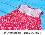dainty summer baby girl dress.... | Shutterstock . vector #1069307897