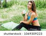 beautiful sporty caucasian... | Shutterstock . vector #1069309223