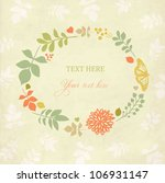 vintage floral background with... | Shutterstock .eps vector #106931147