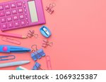 stationary concept  flat lay... | Shutterstock . vector #1069325387