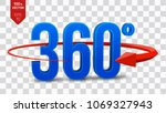 360 degrees sign. 3d isometric...   Shutterstock .eps vector #1069327943