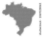 brazil map halftone vector icon.... | Shutterstock .eps vector #1069328063